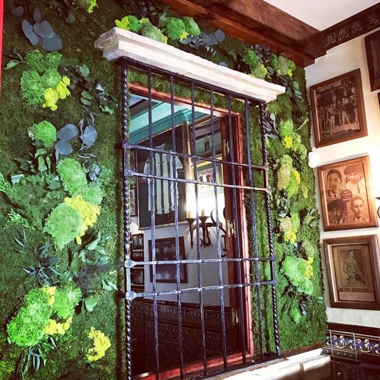 Pared Jardin preservado restaurante El Tomate
