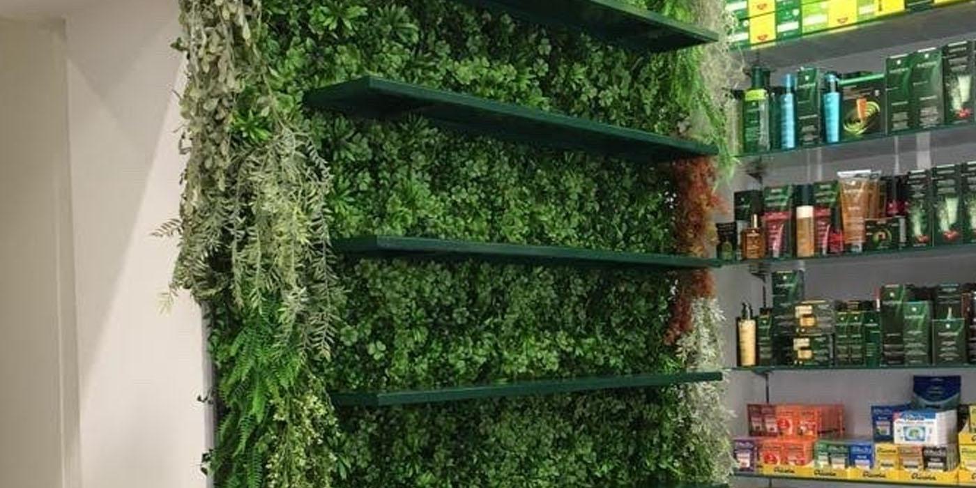 diseño de local, mi jardin vertical
