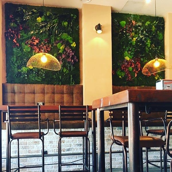 diseño de decoración muros de plantas
