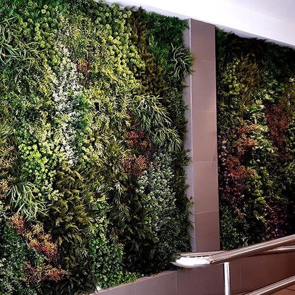 decoración de interiores con plantas naturales