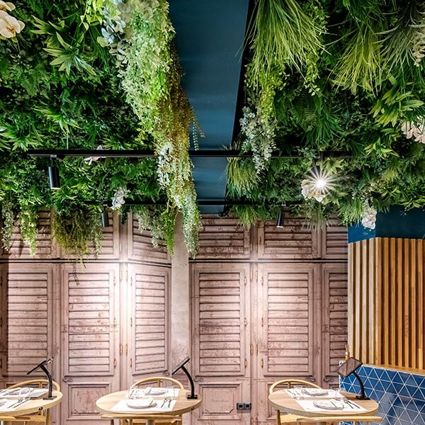 jardín vertical artificial madrid