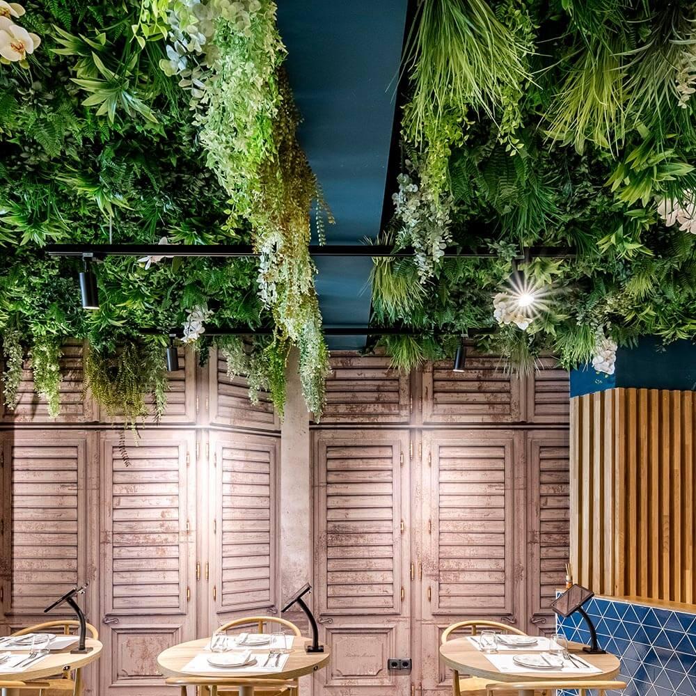 decoración con jardines verticales artificiales en españa